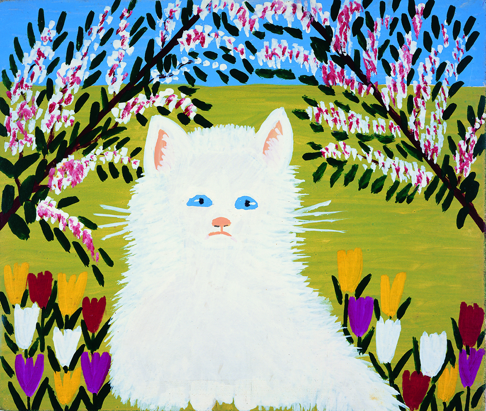 Maud Lewis, White Cat (2), 1960s. Collection of the Art Gallery of Nova Scotia