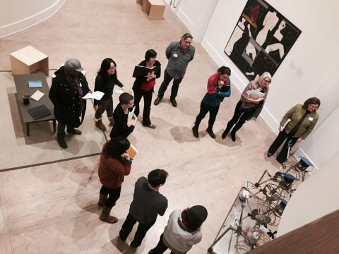 Docent leading a tour at the Gallery