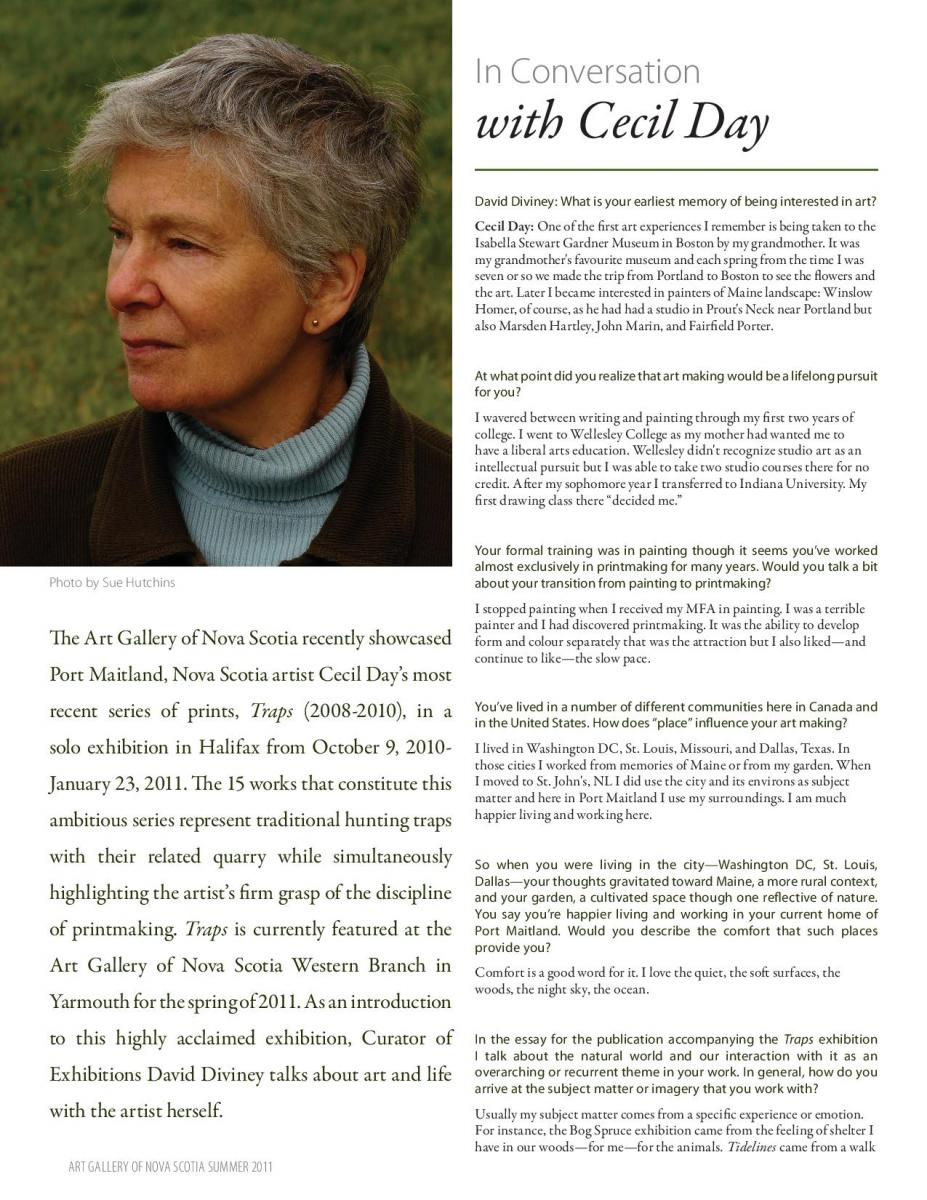A Conversation with Cecil Day, spring 2011