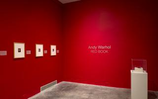 Installation view, Andy Warhol: Red Book. Photo: Steve Farmer