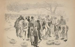 Thure de Thulstrup, Curling-Match at Central Park, January 30